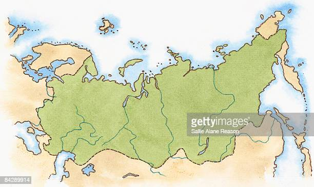 map of russian empire of peter the great - empire stock illustrations