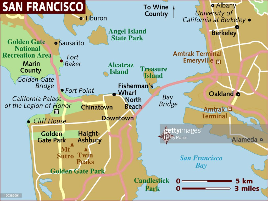 Map of San Francisco. : stock illustration