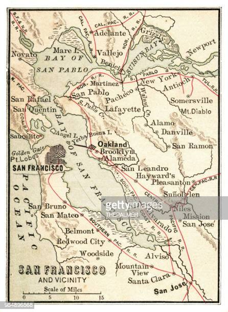 Map of San Francisco USA 1881