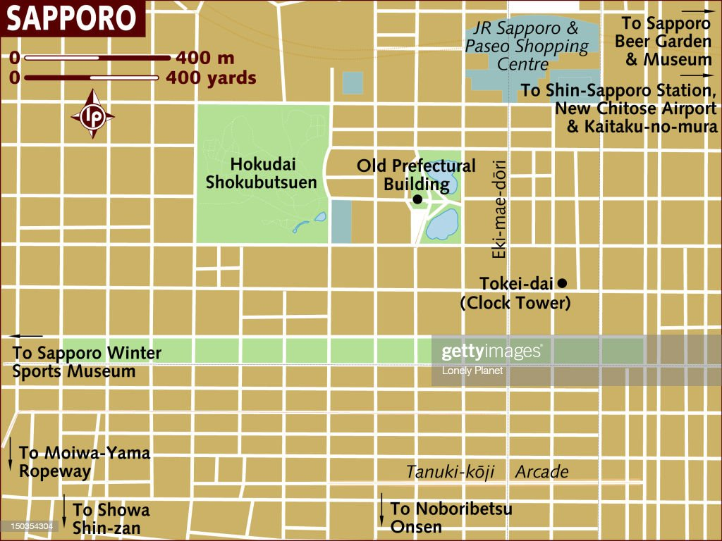 Map Of Sapporo Stock Illustration Getty Images