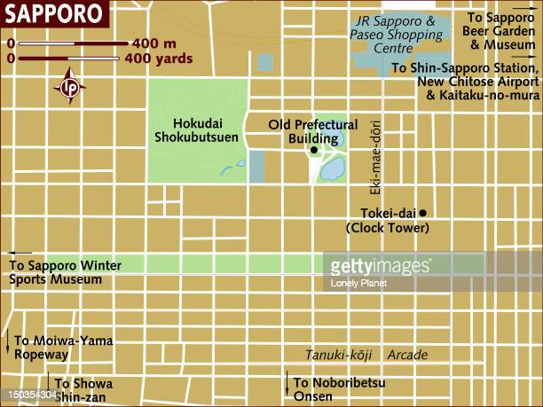 map of sapporo. - hokkaido stock illustrations, clip art, cartoons, & icons