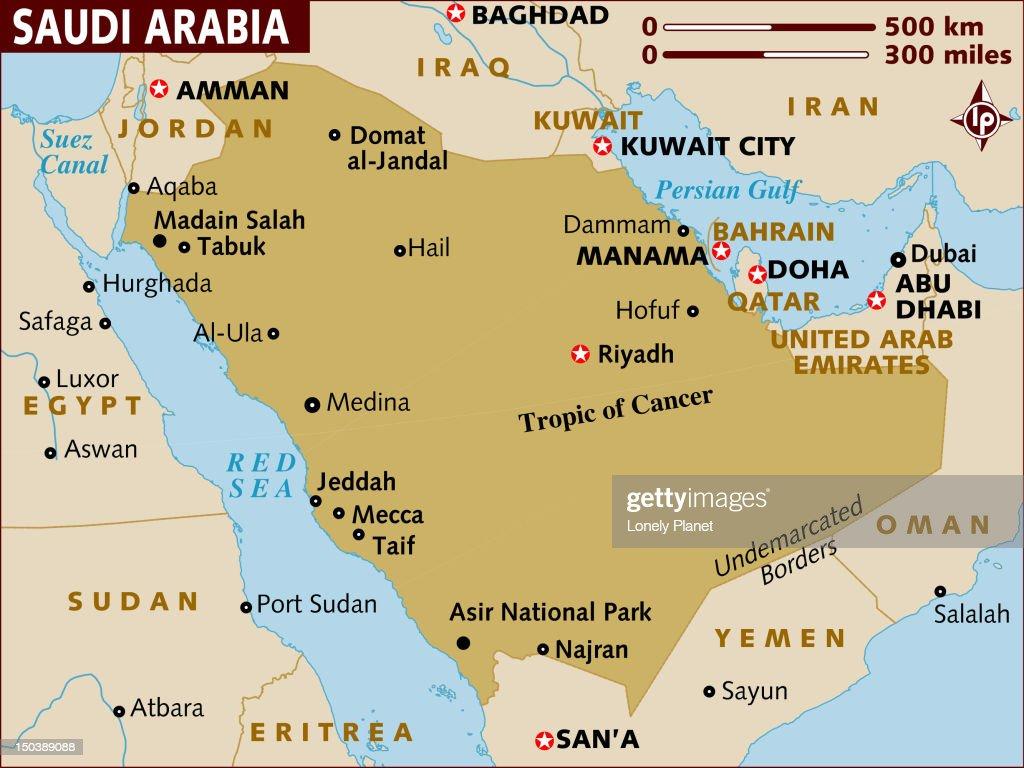 map of saudi arabia stock illustration