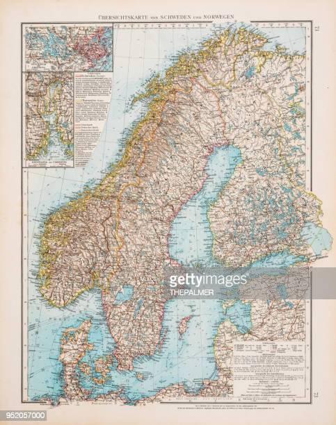 Map of Scandinavia 1896