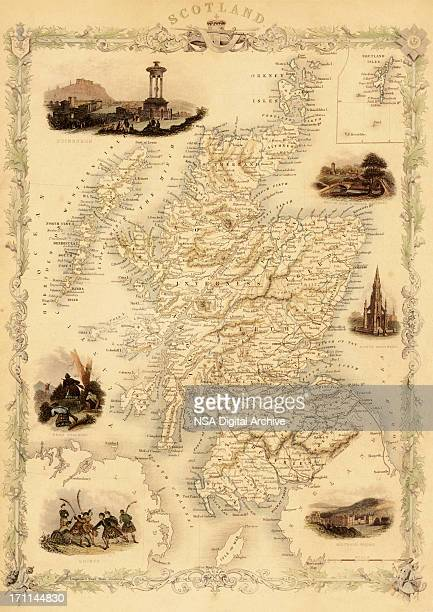 Map of Scotland from 1851