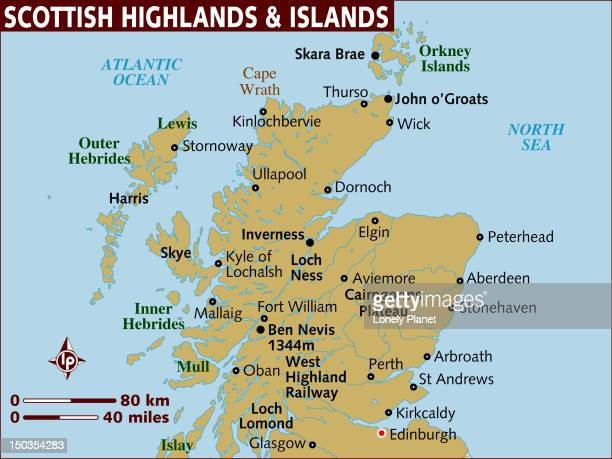 Map of Scottish Highlands and Islands.