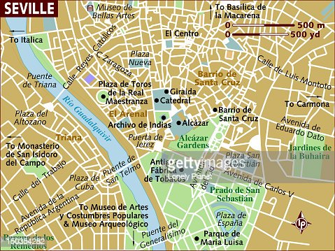 Map Of Seville Stock Illustration Getty Images