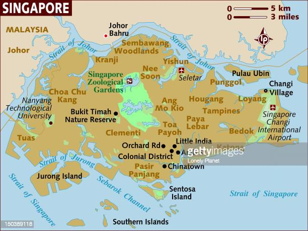 map of singapore. - nee nee stock illustrations