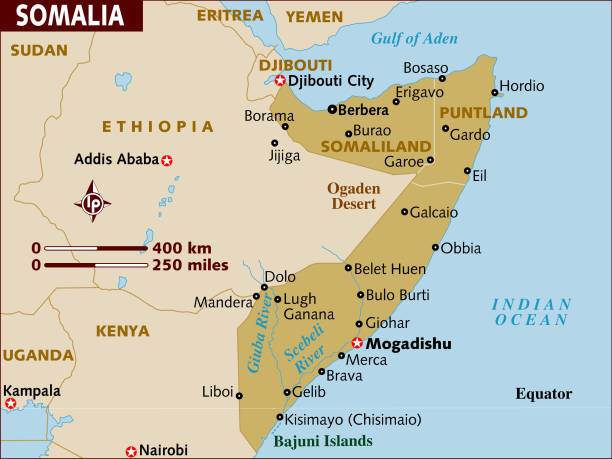Map of Somalia.