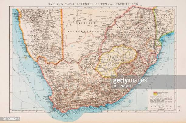 map of south africa 1896 - botswana stock illustrations, clip art, cartoons, & icons