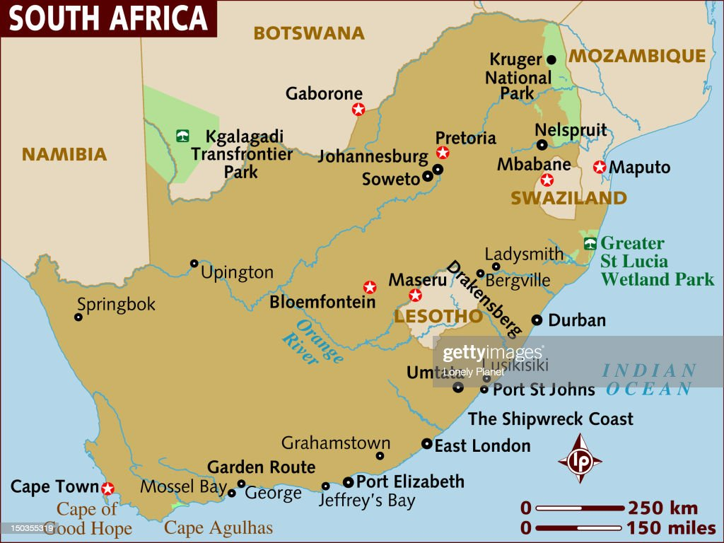 Map Of South Africa Stock Illustration | Getty Images