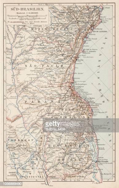 Map of South Brazil 1900