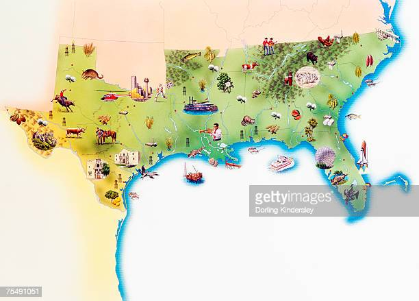 Southern Usa Stock Illustrations And Cartoons Getty Images - Southern us map