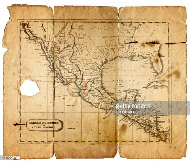 map of spain dominions in north america 1812