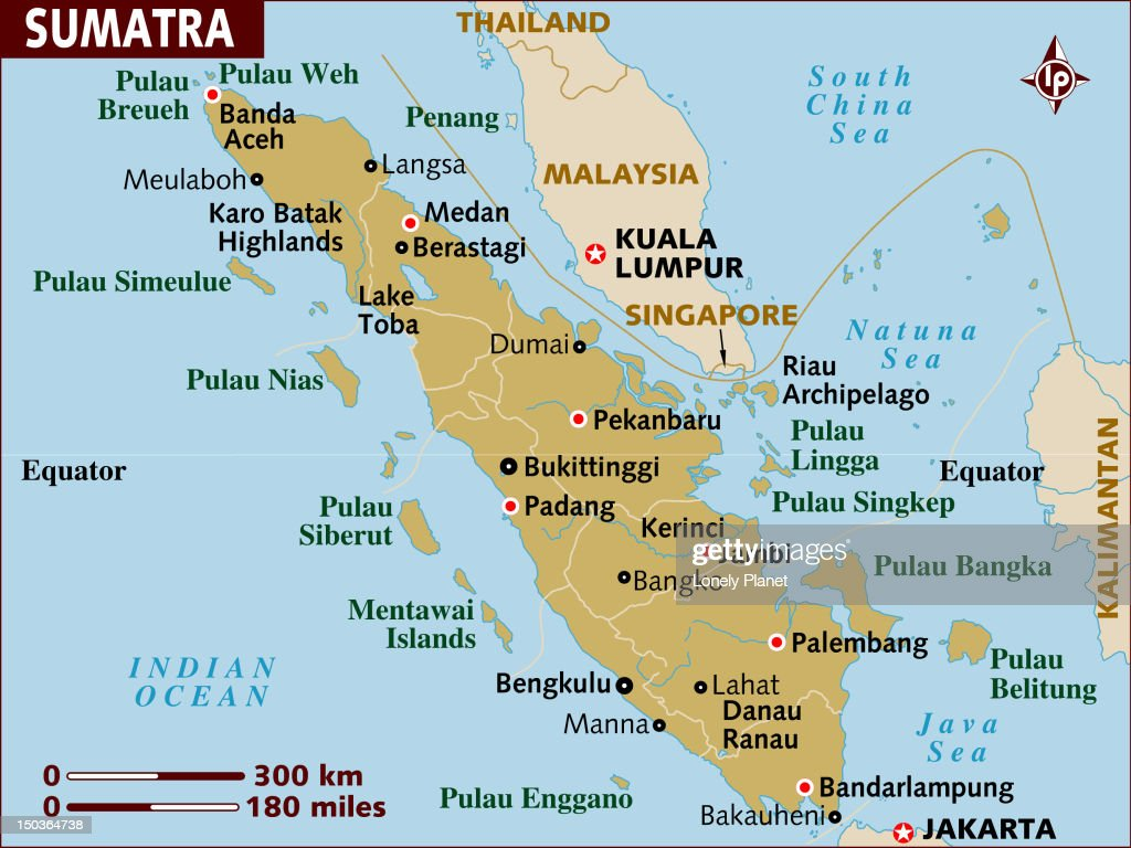 Map of Sumatra. : Stock Illustration