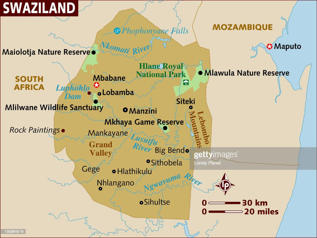 Map Of Swaziland Stock Illustration Getty Images