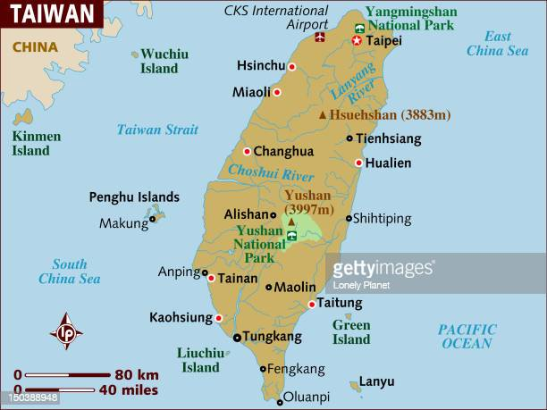 Map of Taiwan.