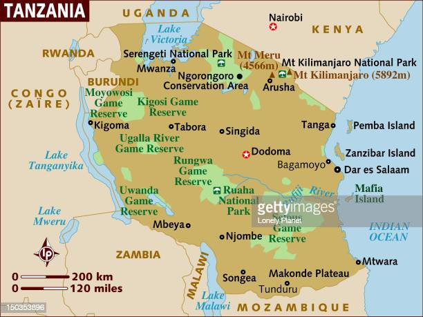 map of tanzania. - mt kilimanjaro stock illustrations, clip art, cartoons, & icons