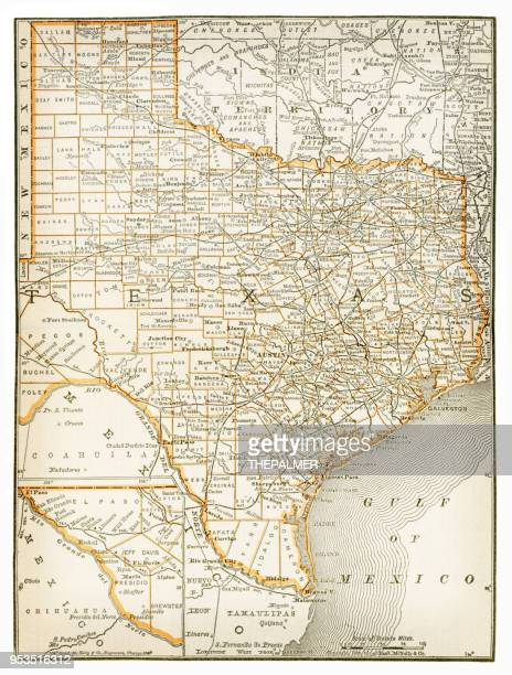 Map of Texas 1893