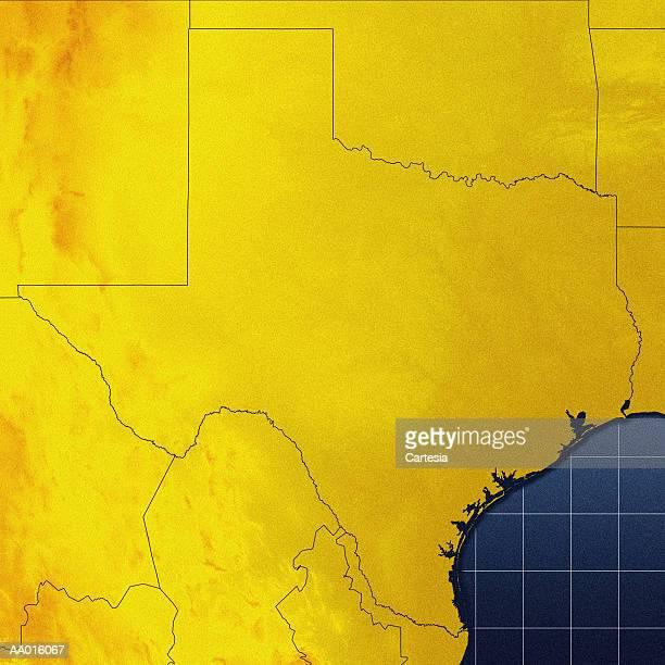 ilustraciones, imágenes clip art, dibujos animados e iconos de stock de map of texas - países del golfo