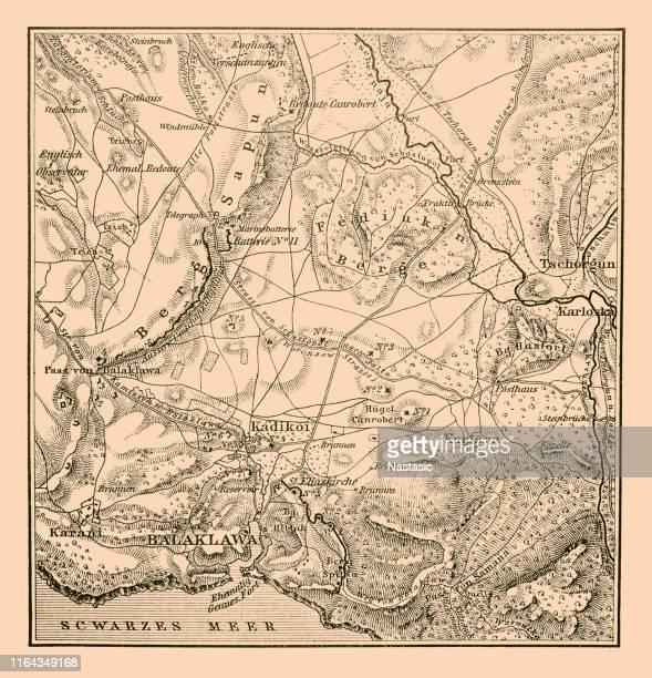 Map of the Battlefield of Balaclava