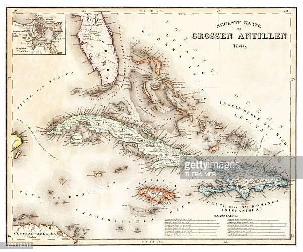 マップのカリブ海 1844