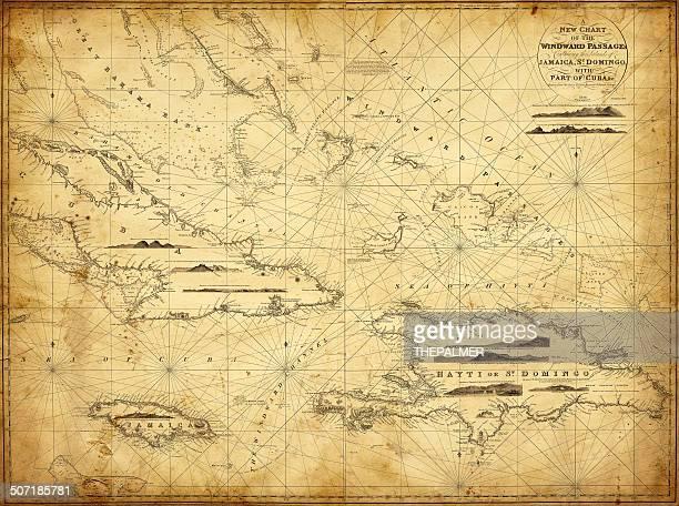 マップカリブ海の高い領アンティル 1836