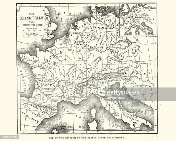 Map of the Kingdom of the Franks under Charlemagne