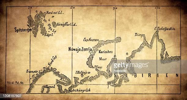 北極地域地図 - バフィン島点のイラスト素材/クリップアート素材/マンガ素材/アイコン素材