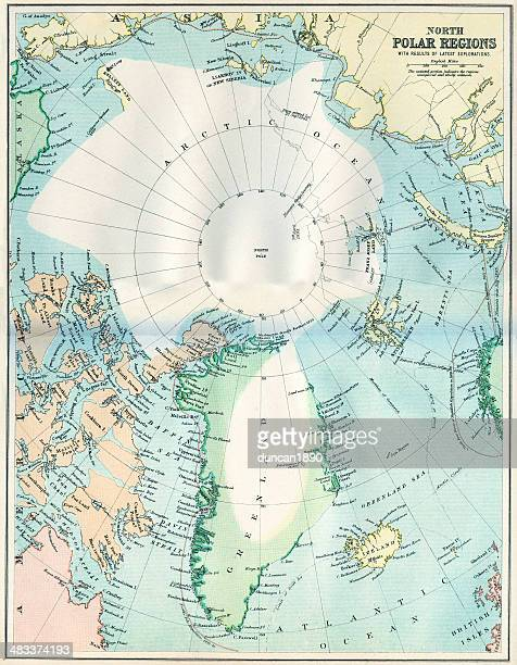 Map of the North Polar Regions