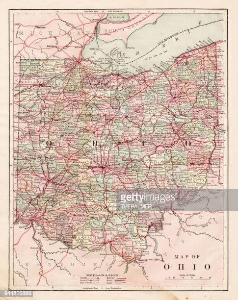 Columbus ohio stock illustrations and cartoons getty images map of the ohio state usa 1881 malvernweather Gallery