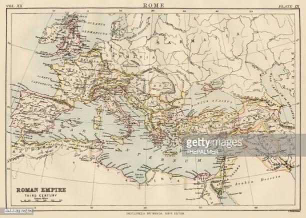 Map of the roman empire 1883