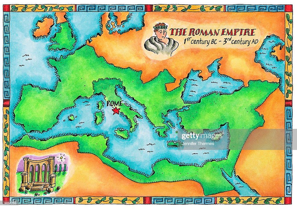 Map of the Roman Empire : Stock Illustration