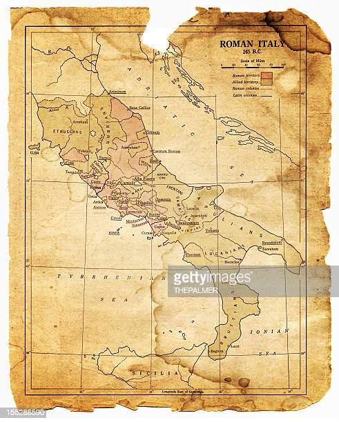 map of the roman italy