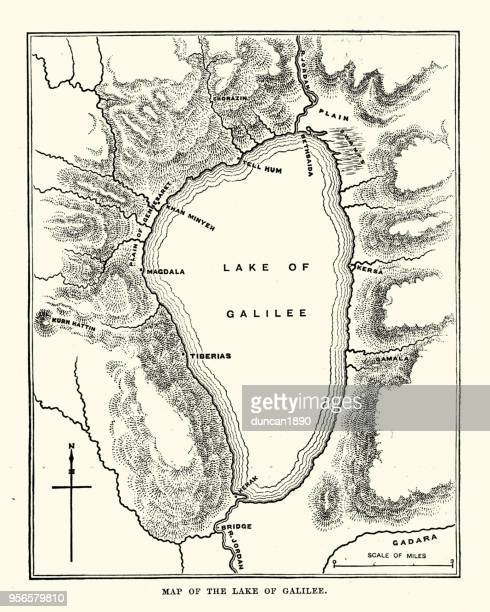 Map of the Sea of Galilee