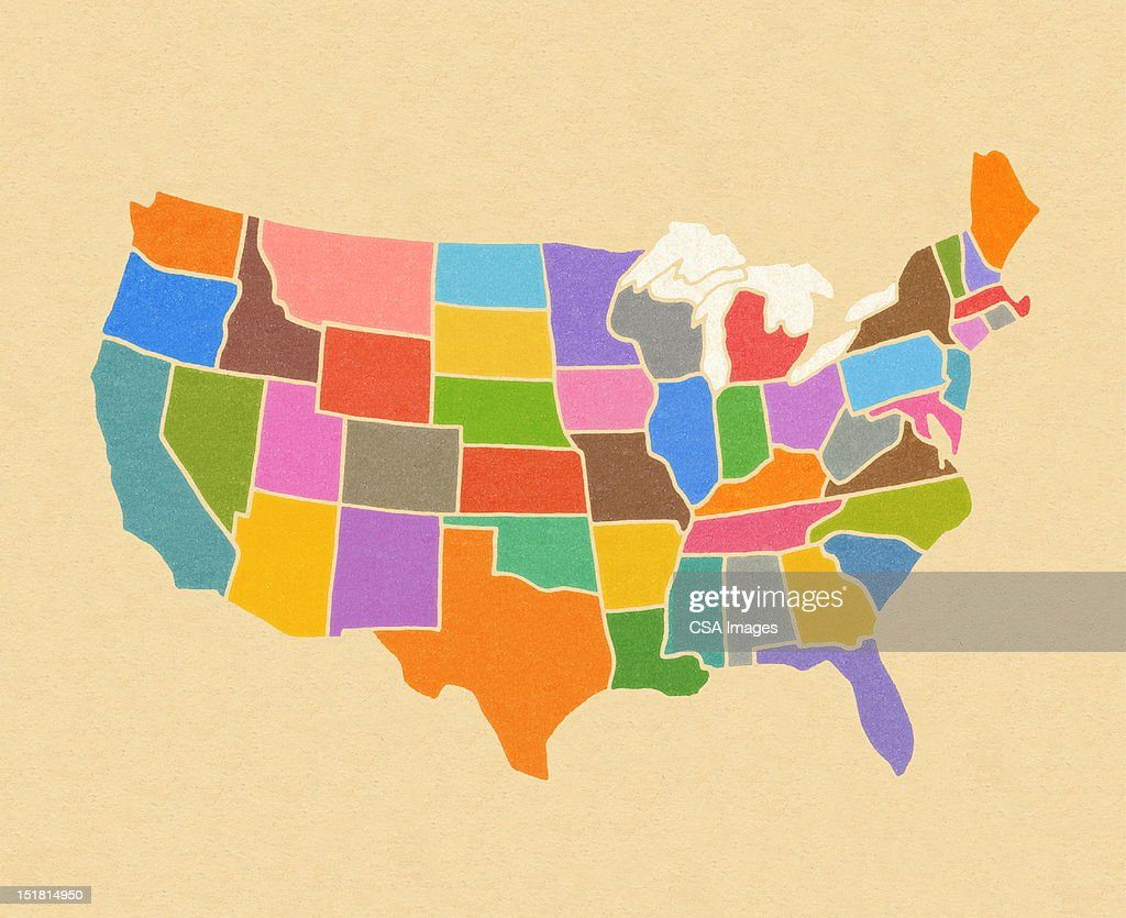 Map of the United States : Stock-Illustration