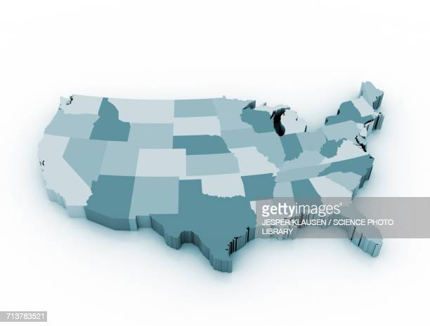 map of the usa - usa stock illustrations