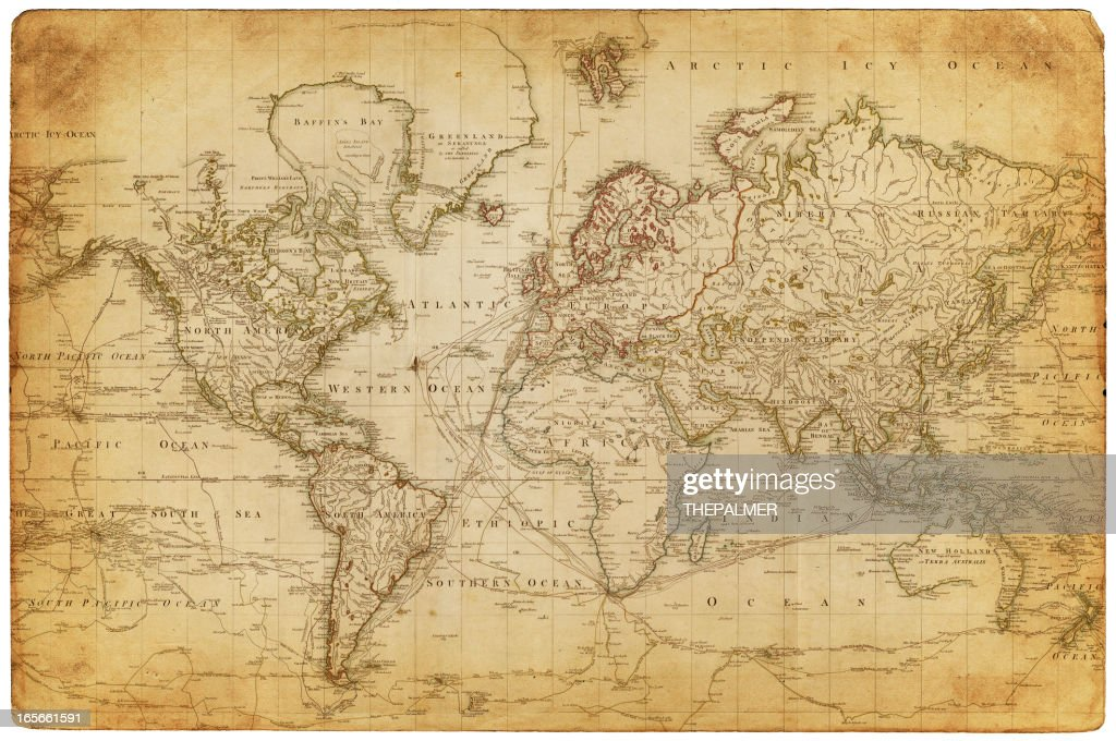 map of the world 1800 : stock illustration