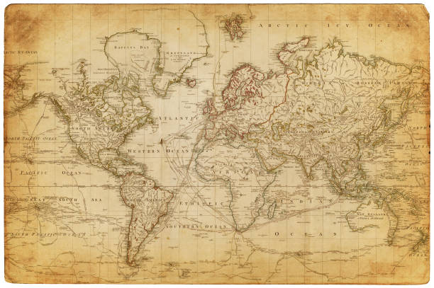 Map Of The World 1800 Wall Art