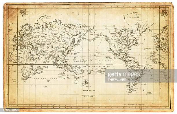 世界地図 1820 年代の