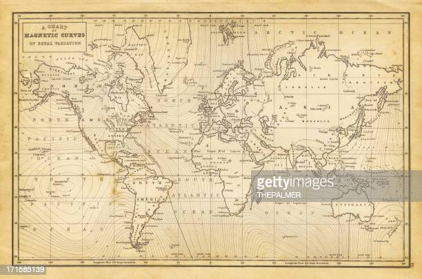 map of the world 1844 - antique stock illustrations, clip art, cartoons, & icons