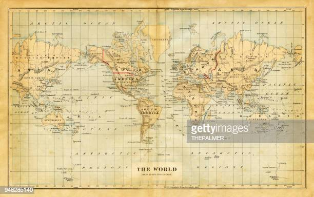 Map of the world 1876