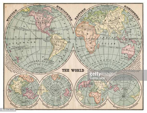 Map of the world 1889