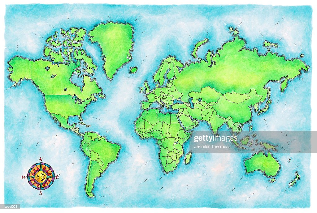 Map of the World : Stockillustraties