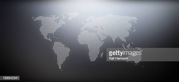 Map of the world in a dot pattern