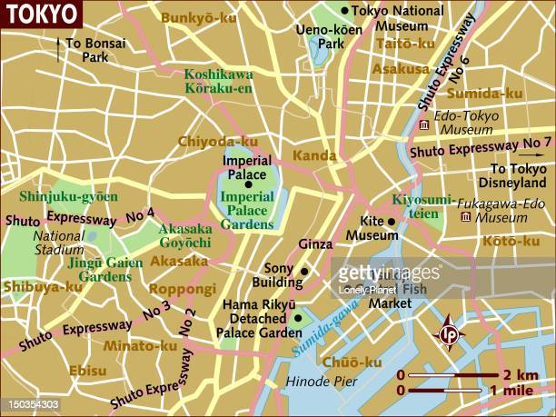 map of tokyo. - tokyo japan stock illustrations, clip art, cartoons, & icons