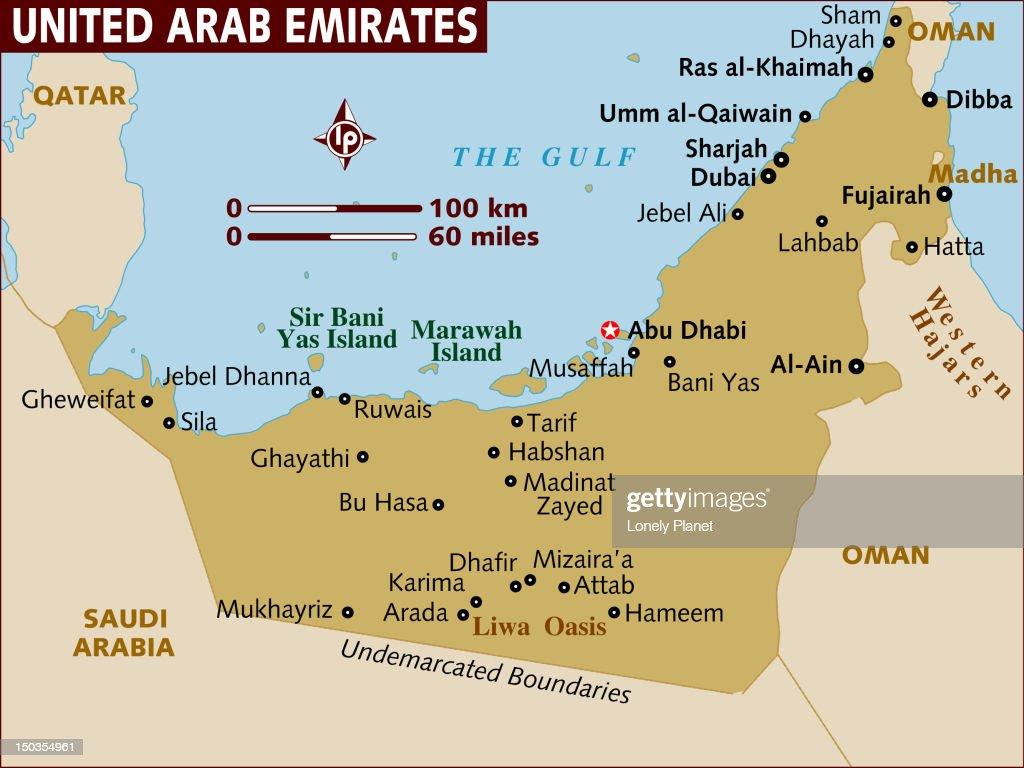 Map of United Arab Emirates. : Stock Illustration