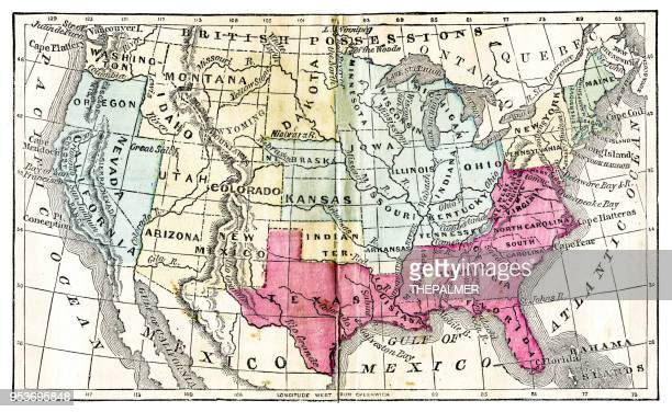 Map of United States 1871