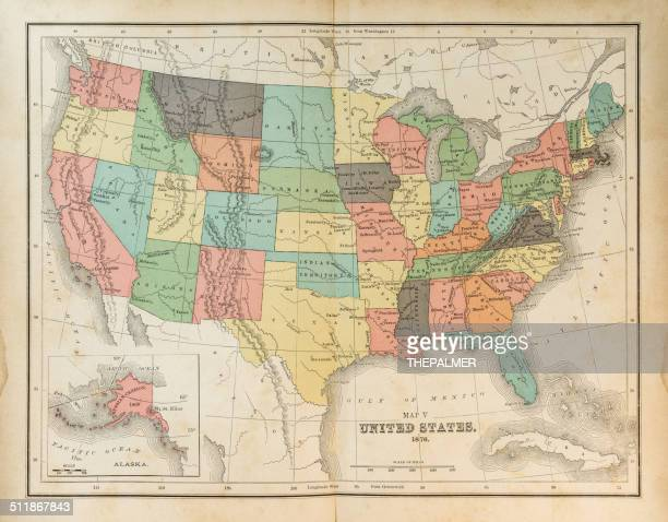 Map of United States 1876