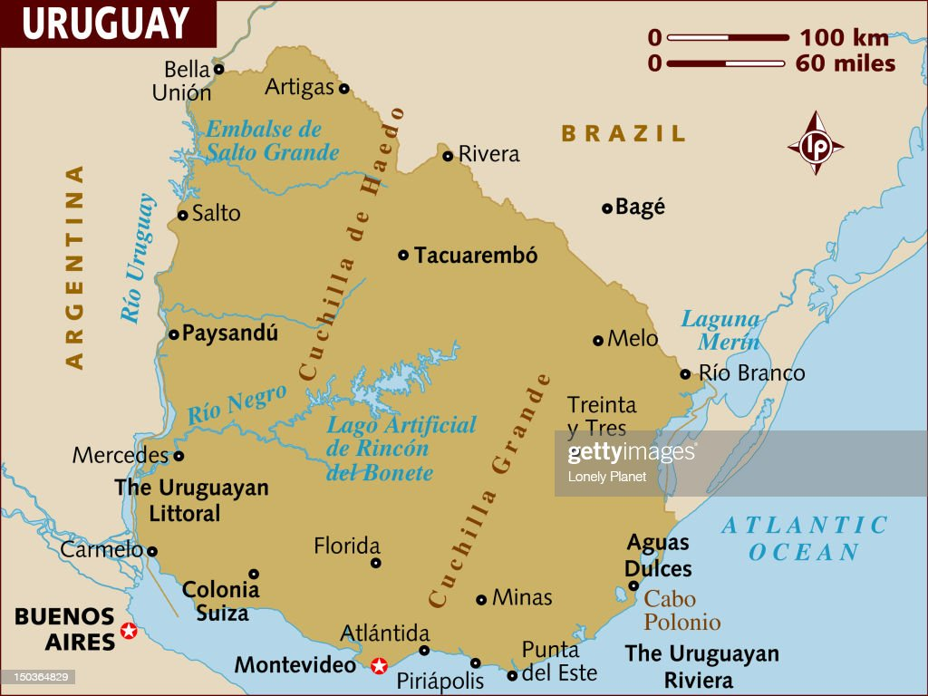 Map Of Uruguay Stock Illustration Getty Images