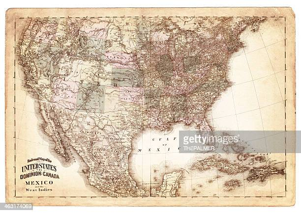 map of usa 1875